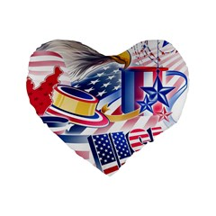 United States Of America Usa  Images Independence Day Standard 16  Premium Heart Shape Cushions