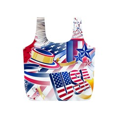 United States Of America Usa  Images Independence Day Full Print Recycle Bags (s)