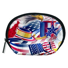 United States Of America Usa  Images Independence Day Accessory Pouches (Medium)