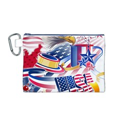 United States Of America Usa  Images Independence Day Canvas Cosmetic Bag (m)