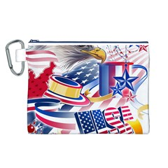 United States Of America Usa  Images Independence Day Canvas Cosmetic Bag (L)
