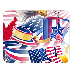 United States Of America Usa  Images Independence Day Double Sided Flano Blanket (Large)
