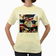 United States Of America Images Independence Day Women s Yellow T Shirt