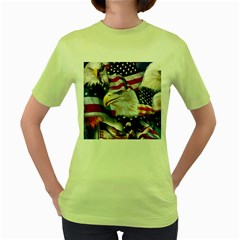 United States Of America Images Independence Day Women s Green T-Shirt