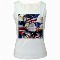 United States Of America Images Independence Day Women s White Tank Top