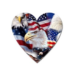 United States Of America Images Independence Day Heart Magnet