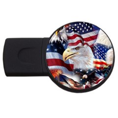 United States Of America Images Independence Day USB Flash Drive Round (1 GB)