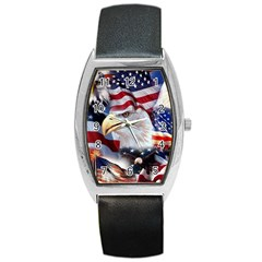 United States Of America Images Independence Day Barrel Style Metal Watch