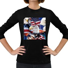 United States Of America Images Independence Day Women s Long Sleeve Dark T-Shirts