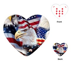United States Of America Images Independence Day Playing Cards (Heart)
