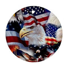 United States Of America Images Independence Day Round Ornament (Two Sides)