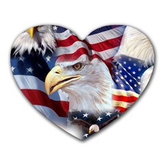 United States Of America Images Independence Day Heart Mousepads