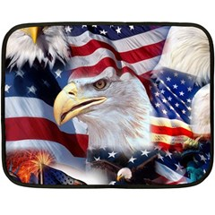 United States Of America Images Independence Day Double Sided Fleece Blanket (Mini)