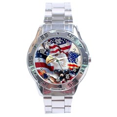 United States Of America Images Independence Day Stainless Steel Analogue Watch