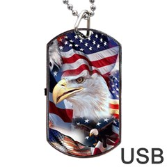 United States Of America Images Independence Day Dog Tag USB Flash (Two Sides)