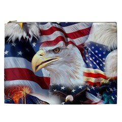 United States Of America Images Independence Day Cosmetic Bag (XXL)