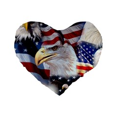 United States Of America Images Independence Day Standard 16  Premium Heart Shape Cushions