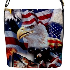 United States Of America Images Independence Day Flap Messenger Bag (S)