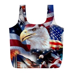 United States Of America Images Independence Day Full Print Recycle Bags (L)