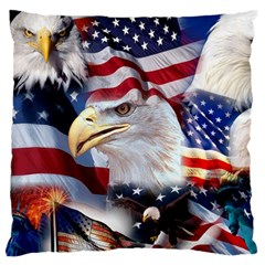 United States Of America Images Independence Day Large Flano Cushion Case (one Side)