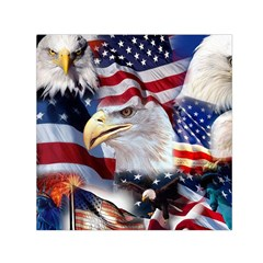 United States Of America Images Independence Day Small Satin Scarf (Square)