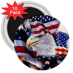 United States Of America Images Independence Day 3  Magnets (10 pack)