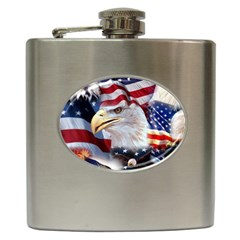 United States Of America Images Independence Day Hip Flask (6 oz)