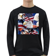 United States Of America Images Independence Day Long Sleeve Dark T Shirts