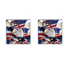 United States Of America Images Independence Day Cufflinks (Square)
