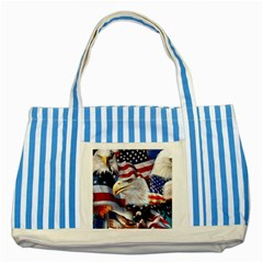 United States Of America Images Independence Day Striped Blue Tote Bag