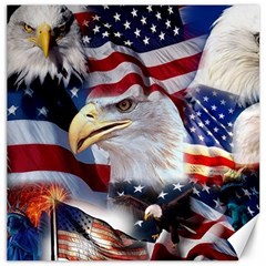 United States Of America Images Independence Day Canvas 16  X 16