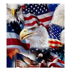 United States Of America Images Independence Day Shower Curtain 66  X 72  (large)