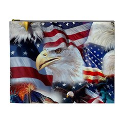 United States Of America Images Independence Day Cosmetic Bag (XL)
