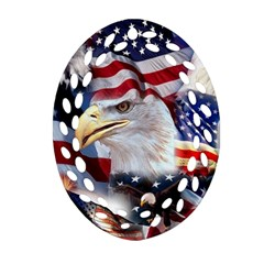 United States Of America Images Independence Day Oval Filigree Ornament (Two Sides)