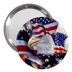 United States Of America Images Independence Day 3  Handbag Mirrors