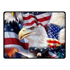 United States Of America Images Independence Day Double Sided Fleece Blanket (small)