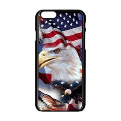 United States Of America Images Independence Day Apple iPhone 6/6S Black Enamel Case