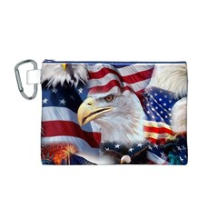 United States Of America Images Independence Day Canvas Cosmetic Bag (M)