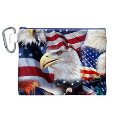 United States Of America Images Independence Day Canvas Cosmetic Bag (xl)