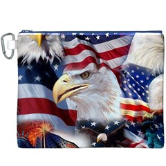 United States Of America Images Independence Day Canvas Cosmetic Bag (XXXL)