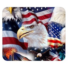United States Of America Images Independence Day Double Sided Flano Blanket (Small)