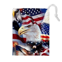 United States Of America Images Independence Day Drawstring Pouches (Extra Large)
