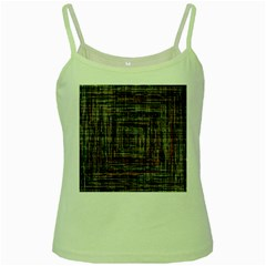 Unique Pattern Green Spaghetti Tank