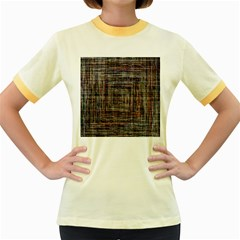 Unique Pattern Women s Fitted Ringer T Shirts