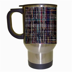 Unique Pattern Travel Mugs (White)