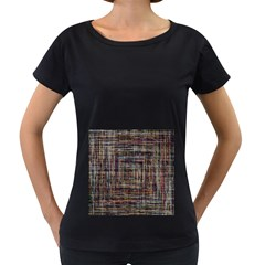 Unique Pattern Women s Loose-Fit T-Shirt (Black)