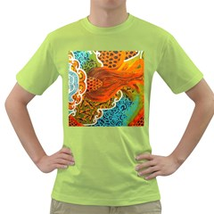 The Beautiful Of Art Indonesian Batik Pattern Green T-Shirt