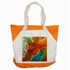The Beautiful Of Art Indonesian Batik Pattern Accent Tote Bag