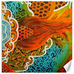 The Beautiful Of Art Indonesian Batik Pattern Canvas 12  X 12