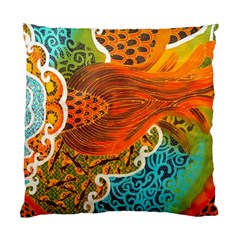 The Beautiful Of Art Indonesian Batik Pattern Standard Cushion Case (one Side)